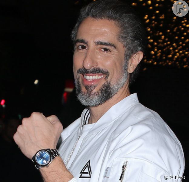 Marcos Mion comemora aniversário de 40 anos no Villagio JK, no bairro da Vila Olímpia, em São Paulo, na noite desta quarta-feira, 19 de junho de 2019