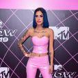 MTV Miaw 2019: a cantora Tati Zaqui foi de look em vinil rosa