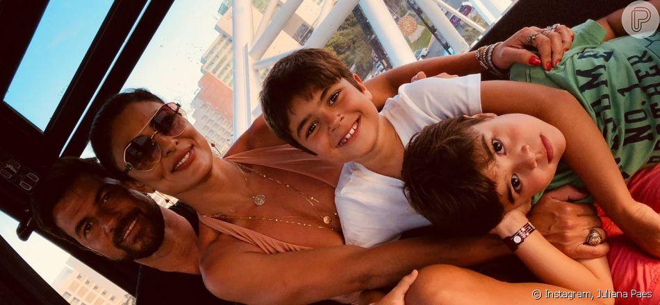 Dona do jogo! Ju Paes leva a melhor em corrida inusitada com os filhos nesta segunda-feira, dia 09 de julho de 2019
