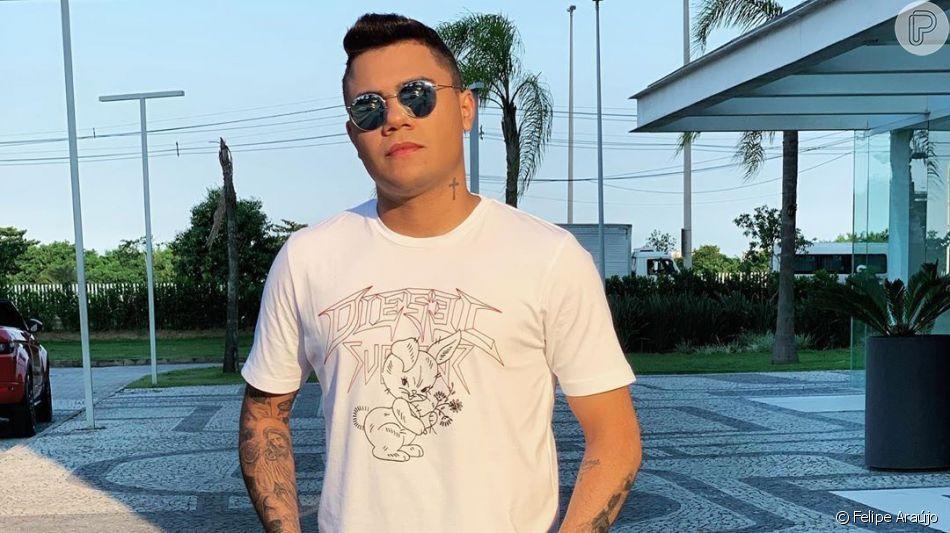 Felipe Araújo é detido após dormir dentro do carro, uma BMW, parado irregularmente em Goiânia