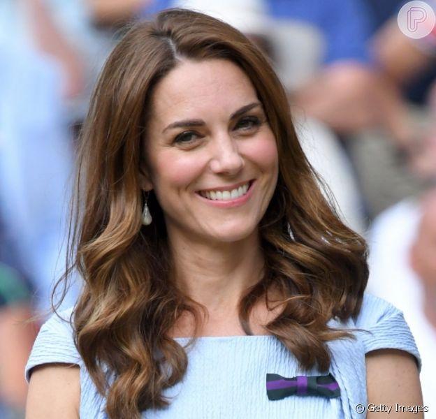 Kate Middleton escolhe look romântico para final do torneio de Wimbledon, em 14 de julho de 2019