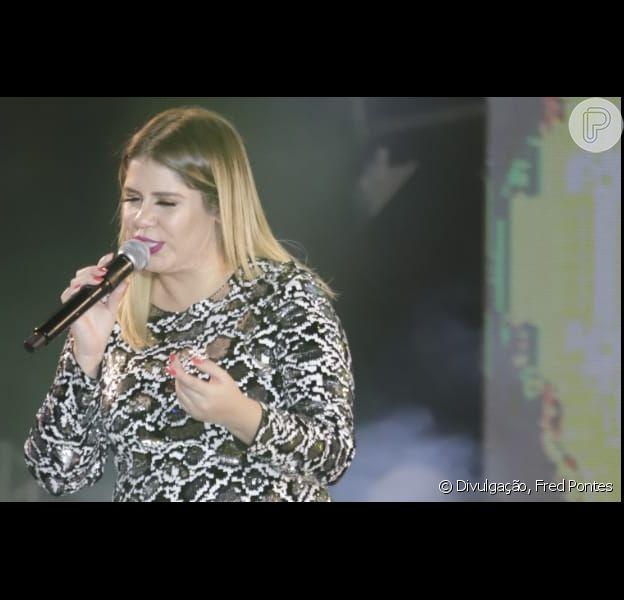 Marilia Mendonça agita fãs no 'Expocrato', no Ceará, na noite desta quarta-feira, 17 de julho de 2019