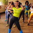 Sabrina Sato mostrou boa forma durante evento fitness em São Paulo nesta quinta-feira, 25 de julho de 2019