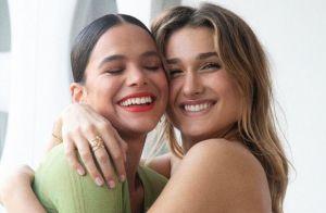 Bruna Marquezine mostra rosto de Sasha estampado em look e se derrete: 'Te amo'