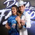 Lucas Veloso e Nathalia Melo se conheceram durante os ensaios para o quadro 'Dança dos Famosos'