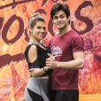 Nathalia Melo lembrou pedido de namoro feito por Lucas Veloso na TV