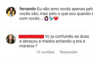 Ops! Fernando Zor revela se já abraçou Maraísa achando que era Maiara. Veja!