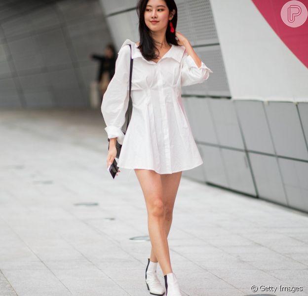30 looks de vestidos com botas para você se inspirar