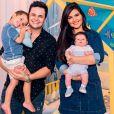 Davi, de 4 anos, é o filho mais velho de Matheus Aleixo e Paula Aires. O casal também é pai de João Pedro, de 5 meses