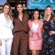 Thais Fersoza, Débora Nascimento, Daiana Garbin  e  Rafa Brites   participam de evento de beleza nesta quarta-feira, dia 28 de agosto de 2018