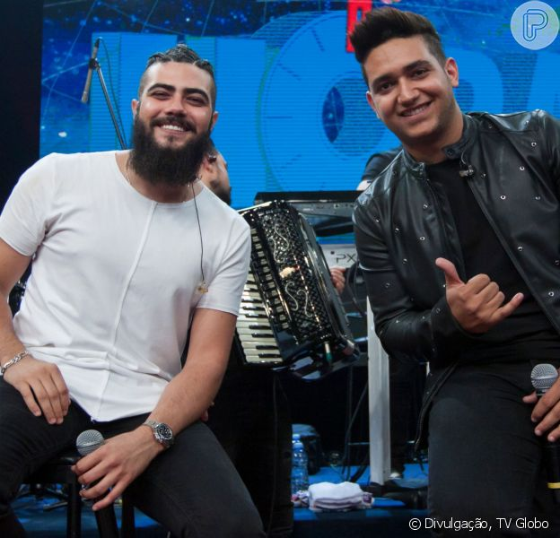 Henrique e Juliano cantaram com a dupla João Neto e Frederico em fórum de Goiânia nesta quarta-feira, 28 de agosto de 2019