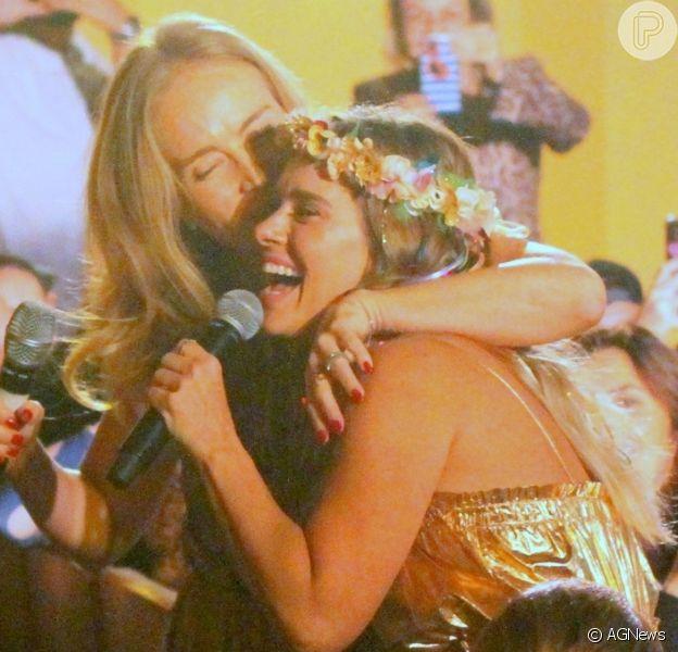 Angélica cantou 'Vou de Táxi' com Carolina Dieckmann na noite desta segunda-feira, 2 de setembro de 2019