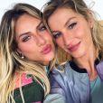 Giovanna Ewbank tieta Gisele Büdchen e agita fãs com foto