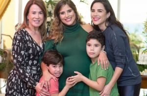 José Marcus incentiva irmão a beijar filho de Camilla Camargo em visita. Vídeo!