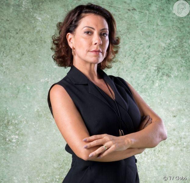 Gisele (Sheron Menezzes) conta para Diogo (Armando Babaioff) que Nana (Fabiula Nascimento) está grávida na novela 'Bom Sucesso'