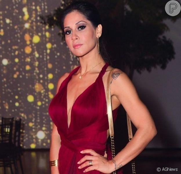 Mayra Cardi esteve em evento de beleza em São Paulo nesta quarta-feira, 25 de setembro de 2019