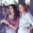 Letícia Sabatella interpretou Taís, onde viveu par romântico com Beija-Flor, vivido por Ângelo Antônio. Na foto, Letícia está ao lado da atriz Betty Gofman