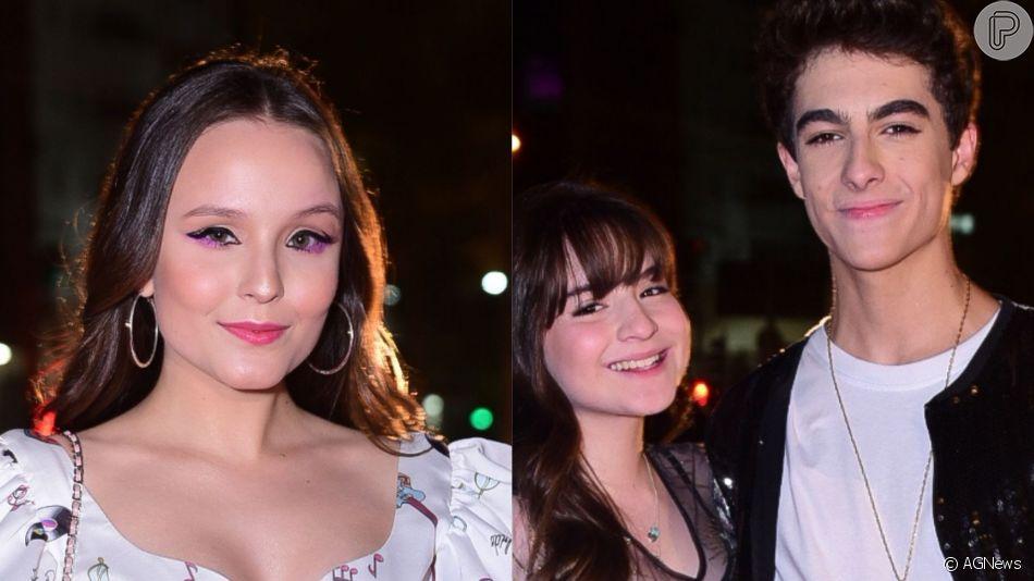 Larissa Manoela, Sophia Valverde e o namorado, Lucas Burgatti, prestigiaram entrega do prêmio Jovem Brasileiro, nesta terça-feira, 1º de outubro de 2019