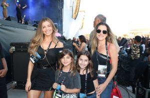 Filha de Grazi Massafera elege cadarços diferentes para curtir Rock in Rio