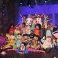 Vanessa Giácomo prestigia ré-estreia do circo da Turma da Mônica no espetáculo 'Brasilis'