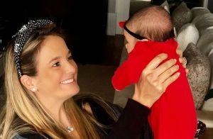 Ticiane Pinheiro é 'tietada' pela filha em volta à TV: 'Manu assistindo a mamãe'