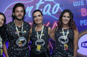Fátima Bernardes reúne os pais em festa dos filhos: 'Semana de comemoração'