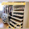 Bruna Marquezine postou foto de seu closet arrumado e a quantidade de tênis chamou atenção