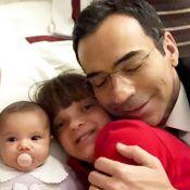 Cesar Tralli destaca afeto por Rafa Justus e Manuella em foto: 'Meus presentes'
