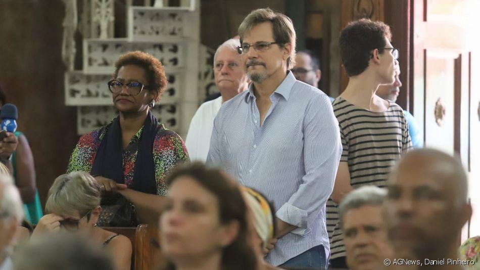 Famosos vão à Missa de 7° dia de Jorge Fernando na igreja de São Jorge, no Rio de Janeiro, nesta segunda-feira, 04 de novembro de 2019