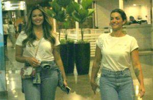 Tal mãe, tal filha! Kelly Key e Suzanna Freitas usam looks idênticos em shopping