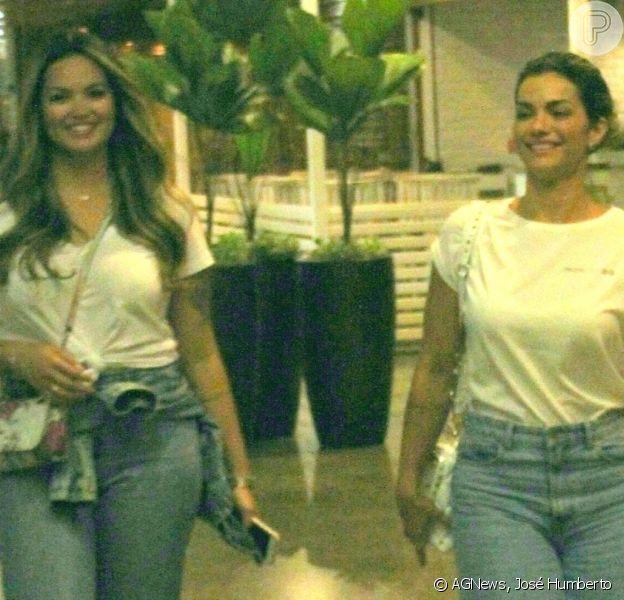 Kelly Key e filha, Suzanna Freitas, usam looks idênticos em shopping durante passeio nesta quarta-feira, dia 06 de novembro de 2019