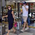 Mariana Rios embarca com o namorado, Lucas Kalil, no aeroporto de Congonhas, em São Paulo, nesta sexta-feira, 22 de novembro de 2019