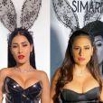 Simone e Simaria abusaram da sensualidade para um show em uma festa à fantasia em Aracaju