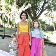 Bela Gil leva os filhos, Nino e Flor, ao aniversário de 1 ano da filha de Sabrina Sato, Zoe