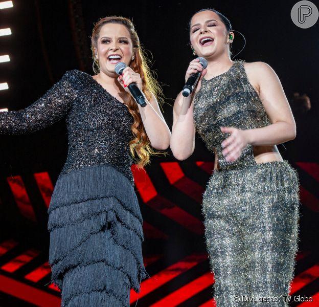 Look de Maiara e Maraisa chamou atenção no 'Festeja Brasil'