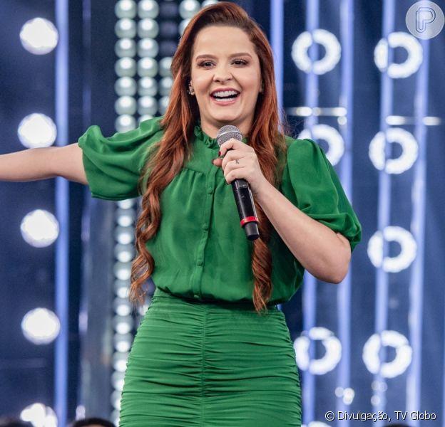 Vestido de Maiara chama atenção em show e é comparado com princesa neste domingo, 15 de dezembro de 2019