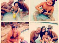 Rafa Justus se diverte na piscina ao lado da avó, Helô Pinheiro