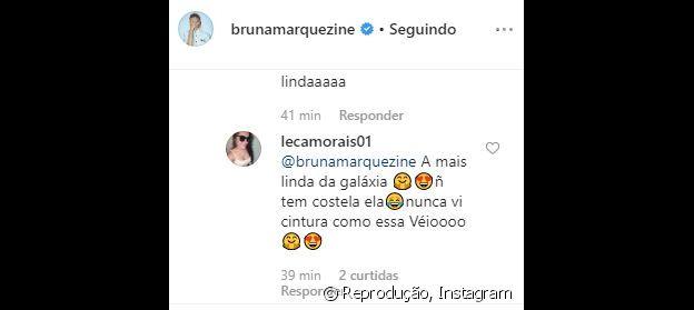 Internauta observa cintura fina de Bruna Marquezine