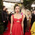 """Kat Graham apostou no vestido vermelho supervibrante da grife  Georges Hobeika no """"Globo de Ouro 2020"""""""