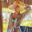Luma Costa está curtindo férias em Trancoso, na Bahia