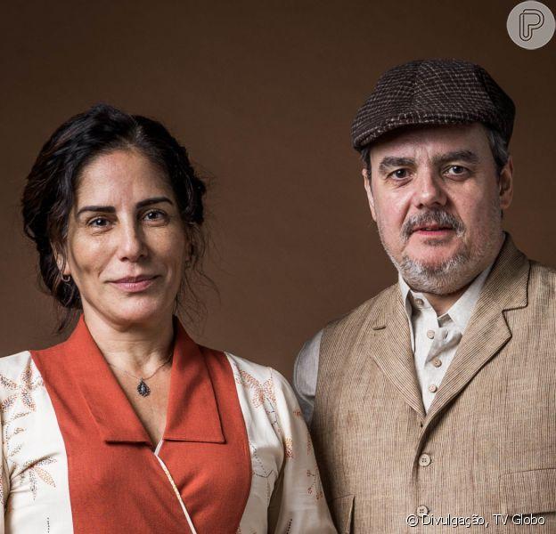 Na novela 'Éramos Seis', Lola (Gloria Pires) beija Afonso (Cassio Gabus Mendes) ao notar que o comerciante a ama no capítulo de terça-feira, 21 de janeiro de 2020