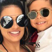 Filho de Simone grava vídeo com padre Fábio de Melo e cantora opina: 'Figura'