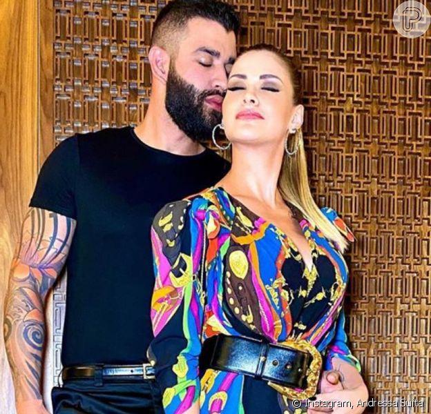 Mulher de Gusttavo Lima, Andressa Suita brinca ao falar sobre 2º casamento neste domingo, dia 19 de janeiro de 2020