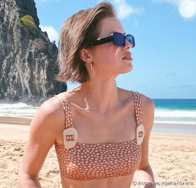 Moda Carnaval: Agatha Moreira aparece com top cropped com estampa inspirada em girafas