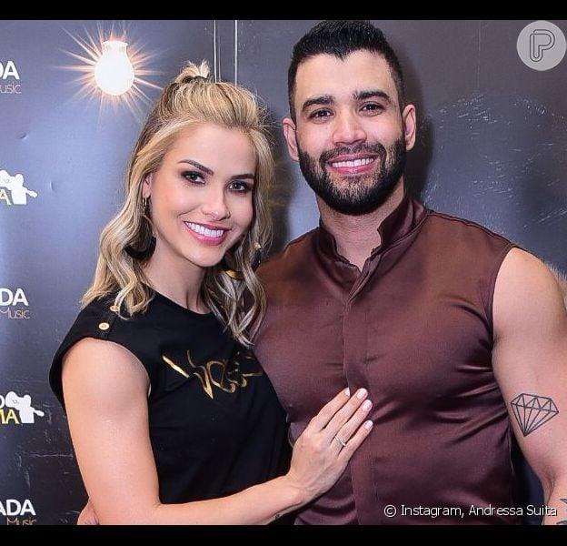 Gusttavo Lima cogita tirar barba e Andressa Suita deixa opinião divertida nesta quarta-feira, dia 22 de janeiro de 2020