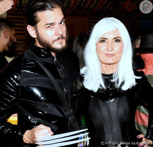 Fátima Bernardes e Túlio Gadêlha conbinam fantasia em festa de carnaval nesta sexta-feira, dia 07 de fevereiro de 2020