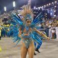 Lexa desfilou pela Unidos da Tijuca, em 24 de fevereiro de 2020.
