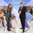 Filha de Patricia Abravanel roubou a cena em programa do avô Silvio Santos
