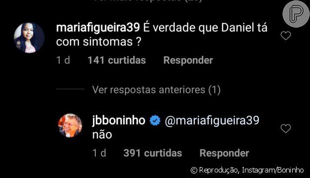 'BBB20': Daniel não está com coronavírus, garante Boninho