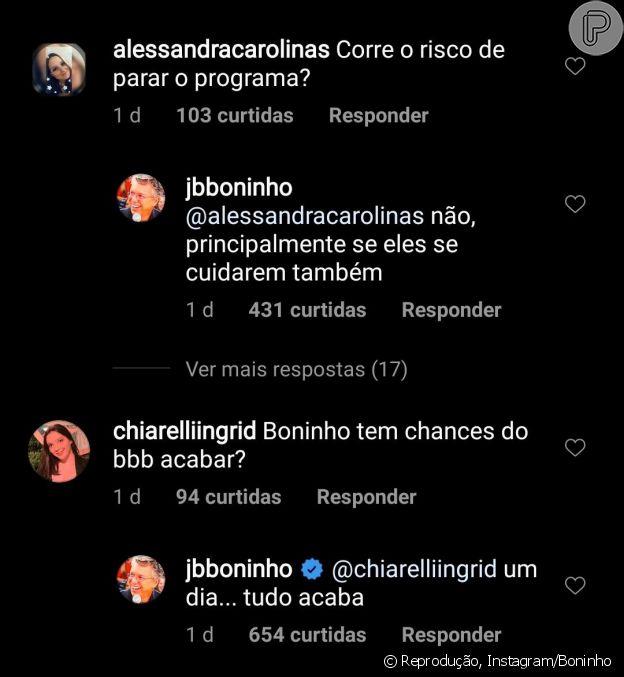 Boninho responde dúvidas de fãs do 'BBB20' sobre suposto cancelamento